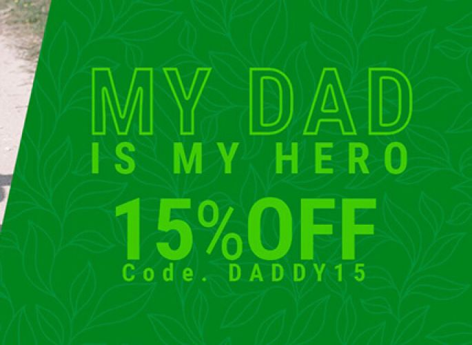 Special Discounts of 15% for Father's Day