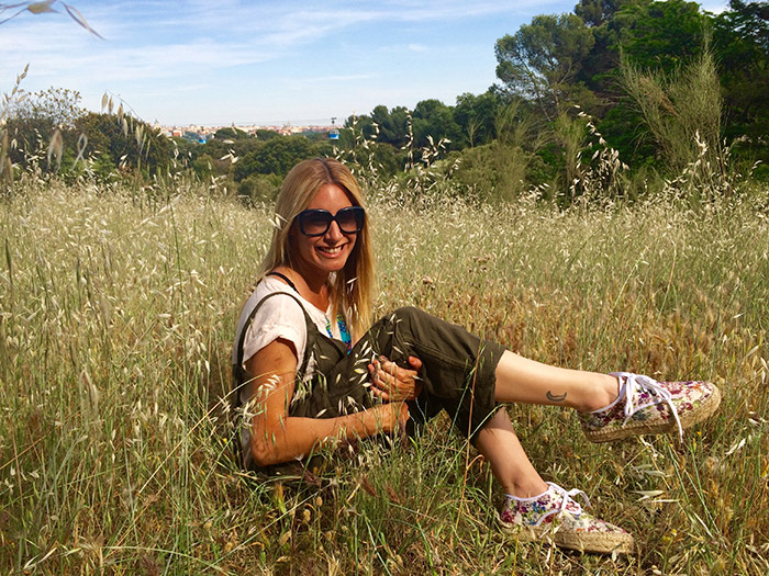Ainhoa Arbizu enjoying the spring with NWE